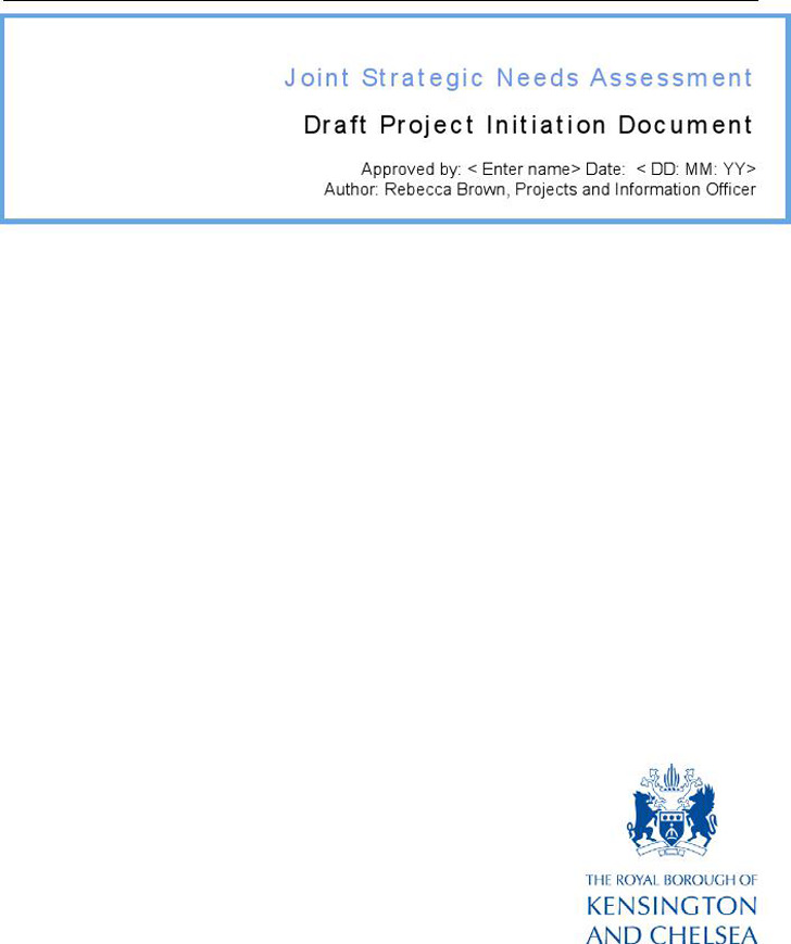 Draft Project Initiation Document