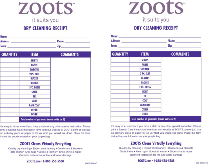 Dry Cleaning Invoice Template