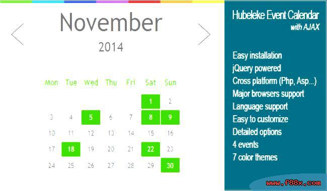 DZS jQuery Mini Events Calendar HTML File Download