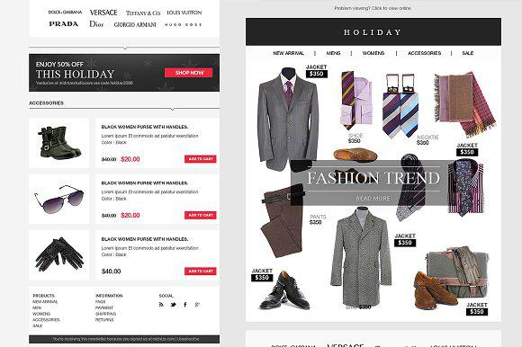 E-commerce PSD Email Newsletter Template Download