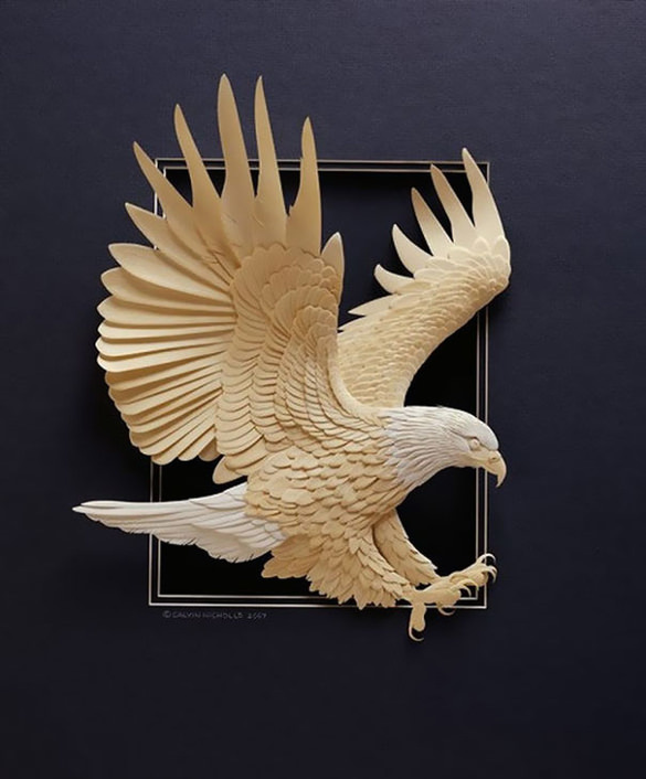Eagle Paper Art Design