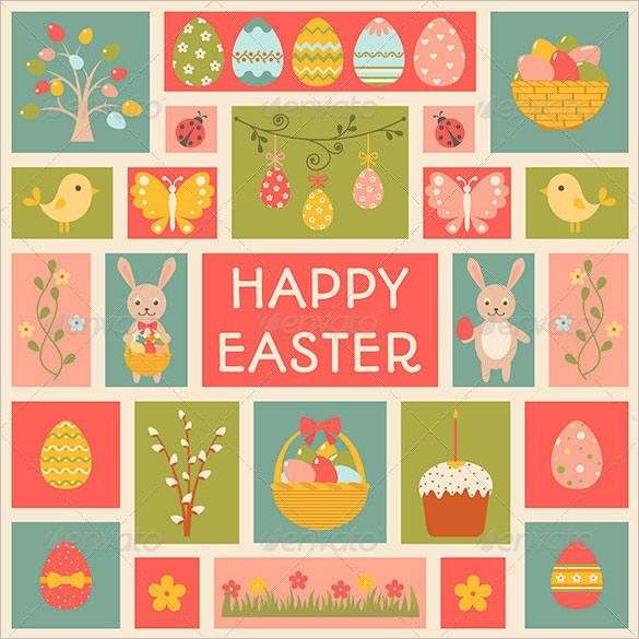 Easter Holiday Card Template - $5