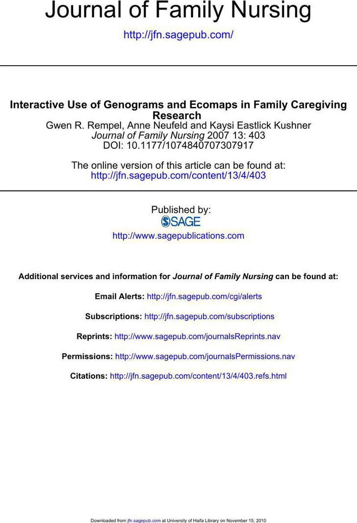 Ecomap and Genogram PDF Template