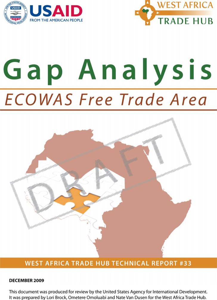 Ecowas Market Integration Gap Analysis