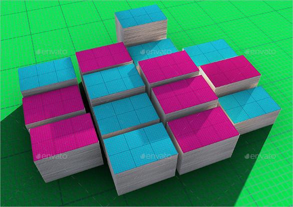 Editable Blank Business Card Mock-Up