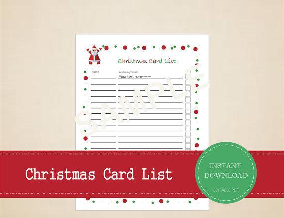 Editable Study Checklist Template  Christmas Checklist Template