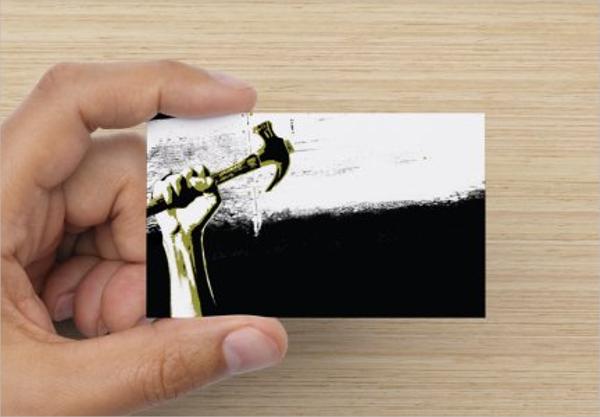 Editable Construction Business Card