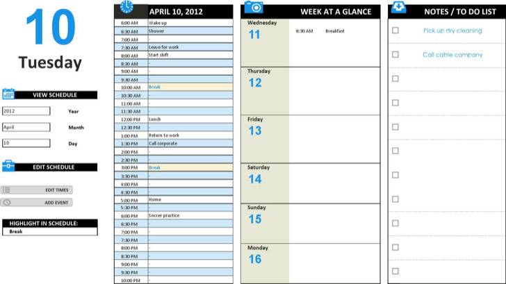 Editable Daily Work Schedule Template Download In Ms Excel
