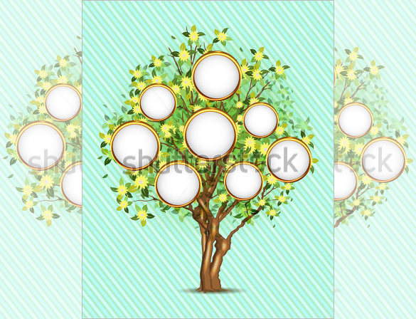 Editable Family Tree with Place for Your Photos