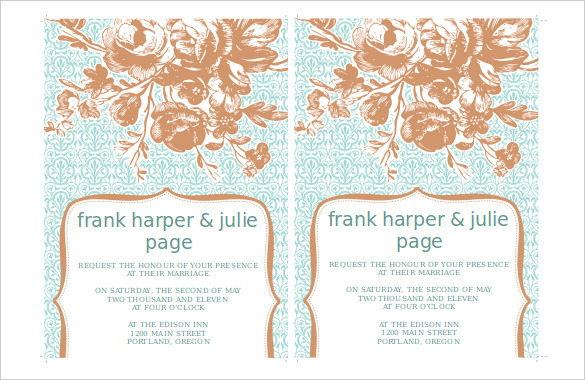 Editable Free Bridhal Shower Invitaion Template Download