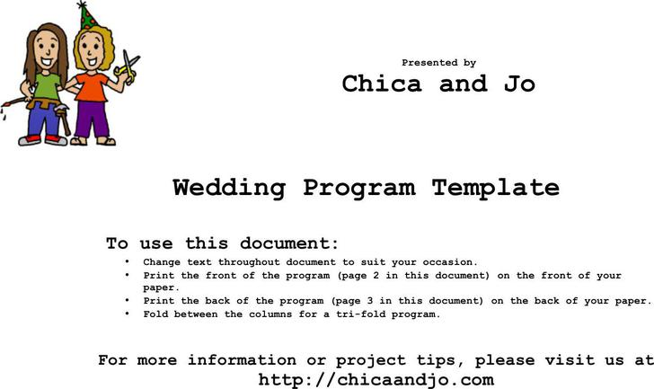 Wedding Program Templates | Download Free & Premium Templates