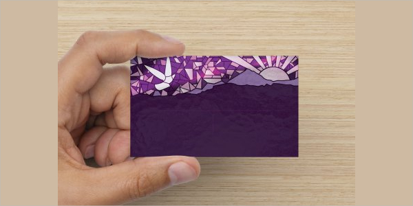 Editable Glossy Business Card Template