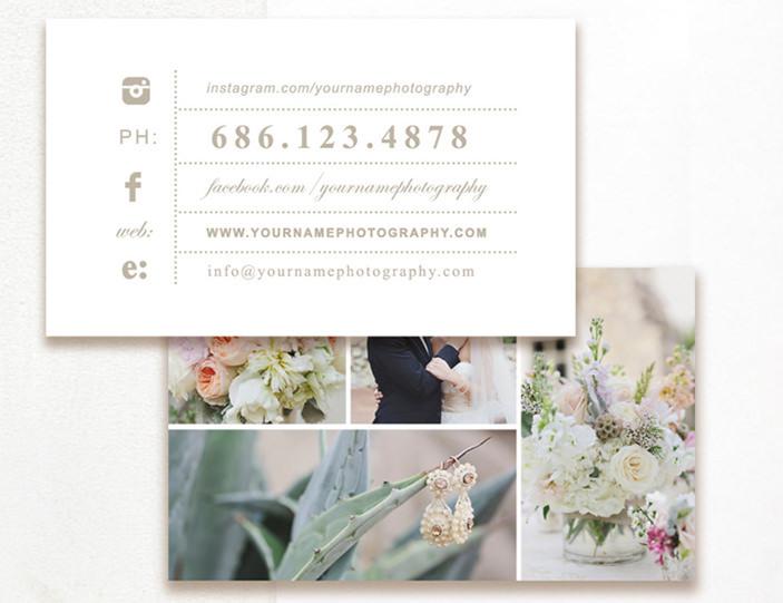 Editable Photography Business Card