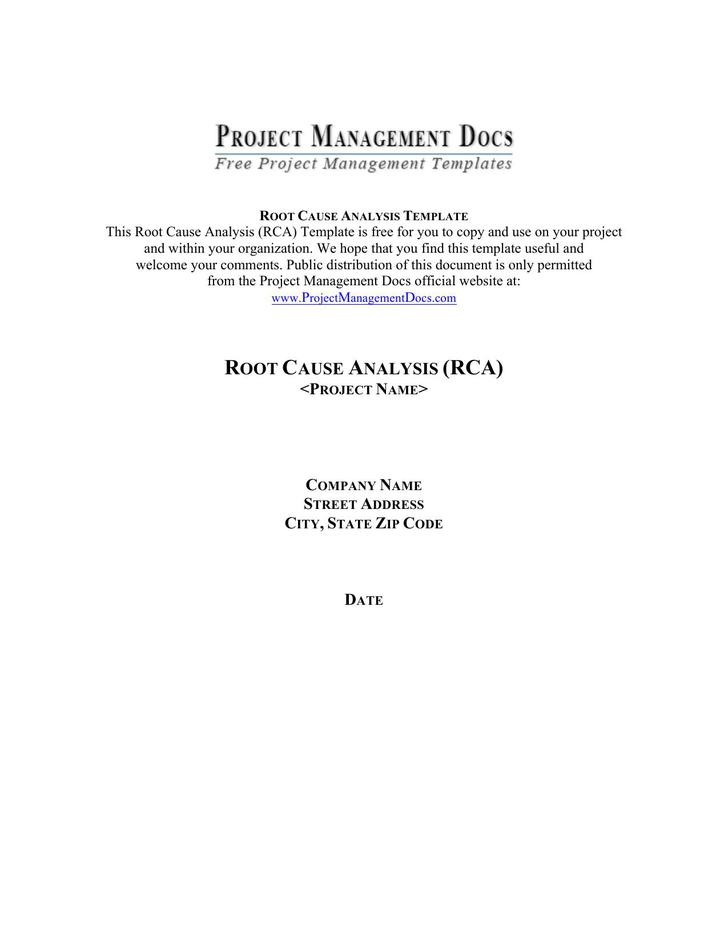 Root Cause Analysis Template – Root Cause Analysis Template Free