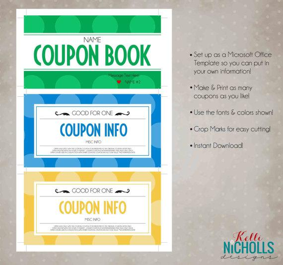Coupon book templates download free premium templates for Coupon book template for husband