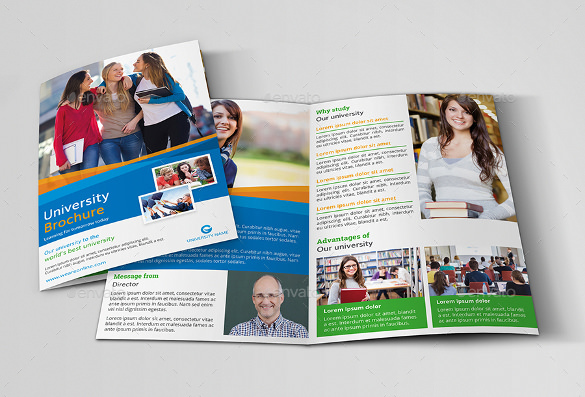 Education Bi-Fold Brochure Template