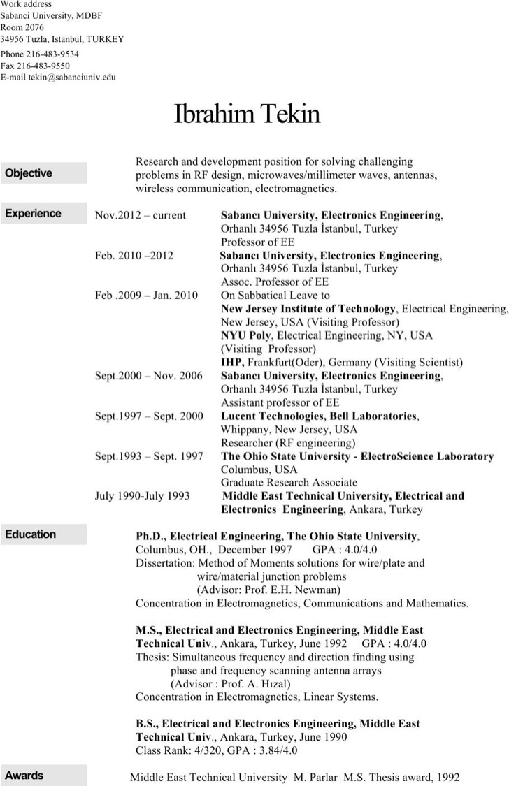 96 Electronics Engineering Resume Samples 100 Electronics