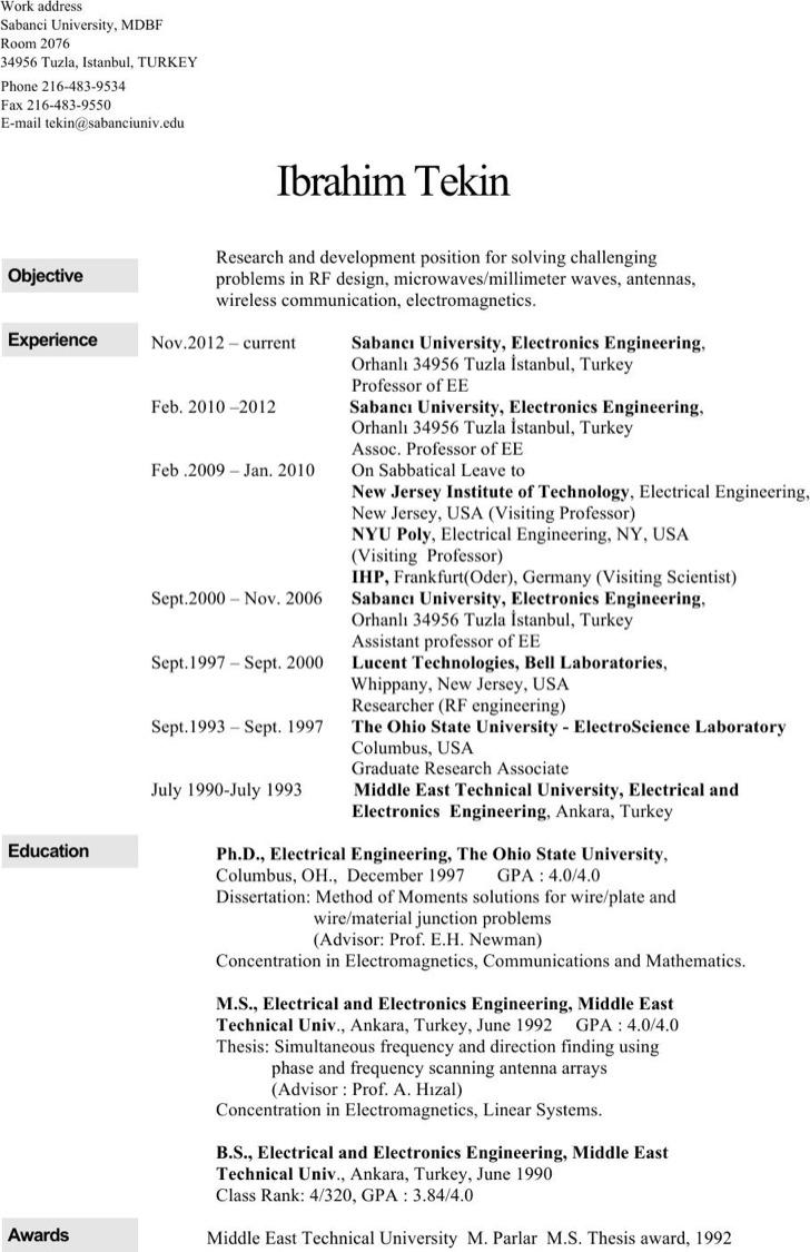 6 Electrical Engineering Resume Templates | Download Free & Premium