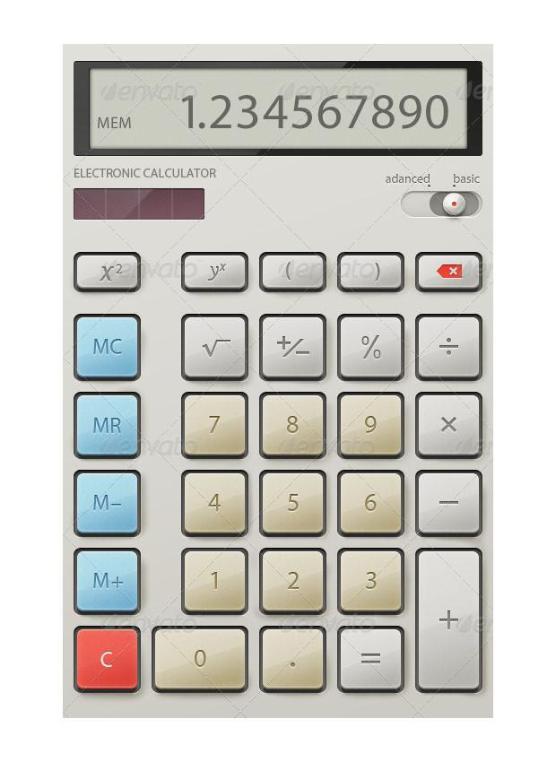 Electronic Calculator Interface