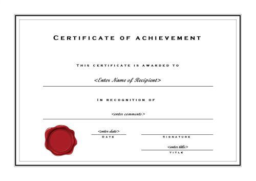 Elegant Achievement Certificate Word