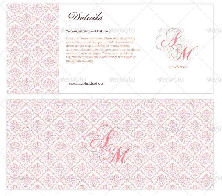 Elegant Boarding Pass Wedding Invitation Download - $4