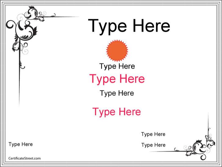 blank certificate template download free premium templates
