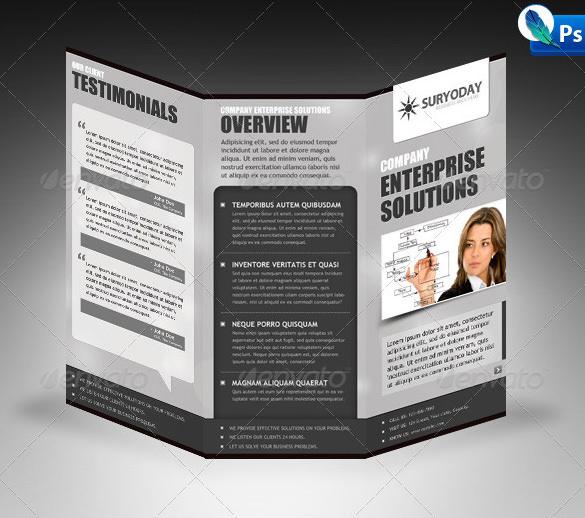 Elegant Corporate Tri-Fold Brochure
