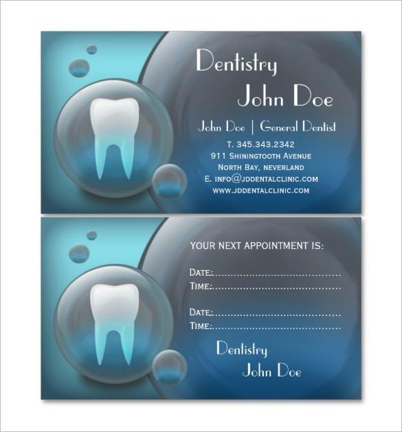 Elegant Dental Business Card for Dentist