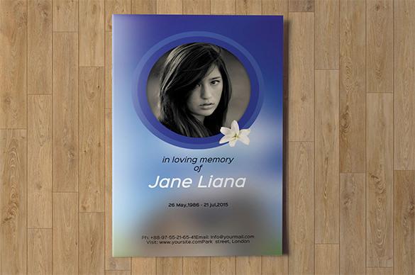 Elegant Funeral Program Brochure Template