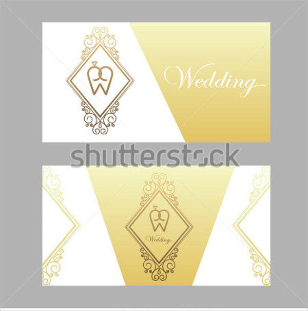 Elegant wedding Engraved Business Card Template
