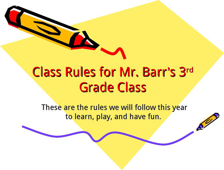 Elementary Classroom Rules Presentation