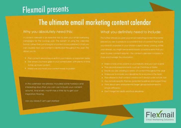 Email Marketing Content Calendar