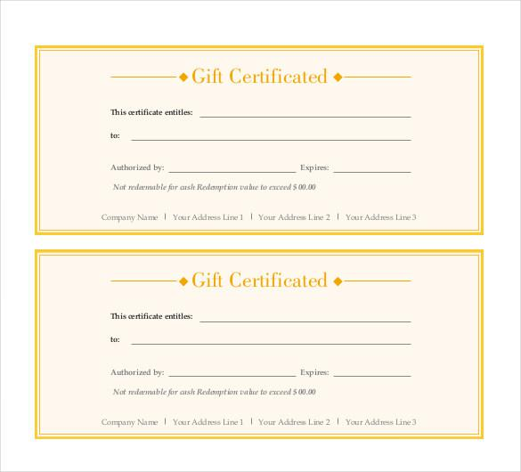 Gift Certificate Template Download Free Premium Templates Forms - Email gift certificate template