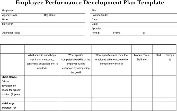 Sample Performance Development Plan Templates To Get Better Work
