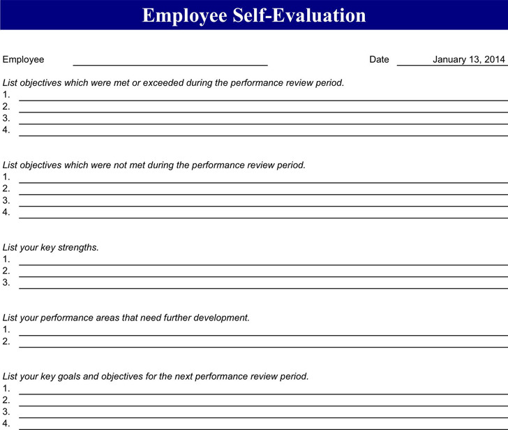 Employee Evaluation Form  Download Free  Premium Templates