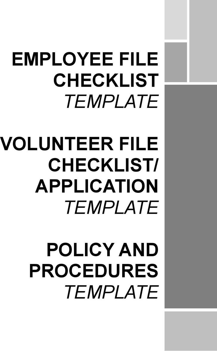 Employee File Checklist Template