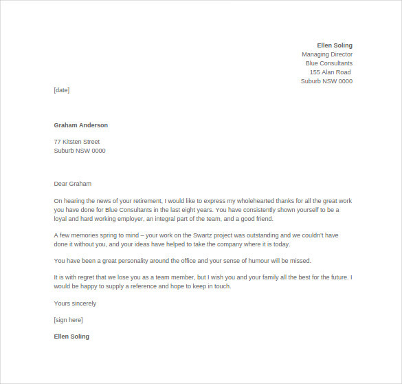 Employee Thank You Letter Templates  Download Free  Premium