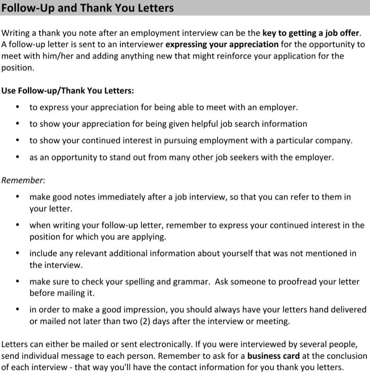 Employee Thank You Letter