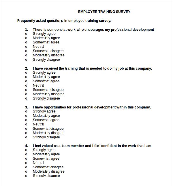 Employee Survey Templates – Survey Template Free