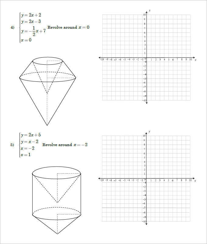 Sample High School Geometry Worksheet Templates | Download Free ...