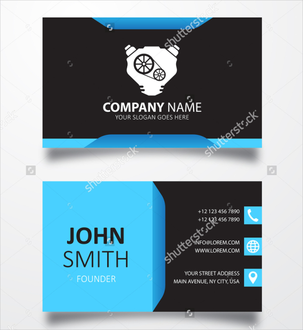 Engine Sign Automotive Business Card Template