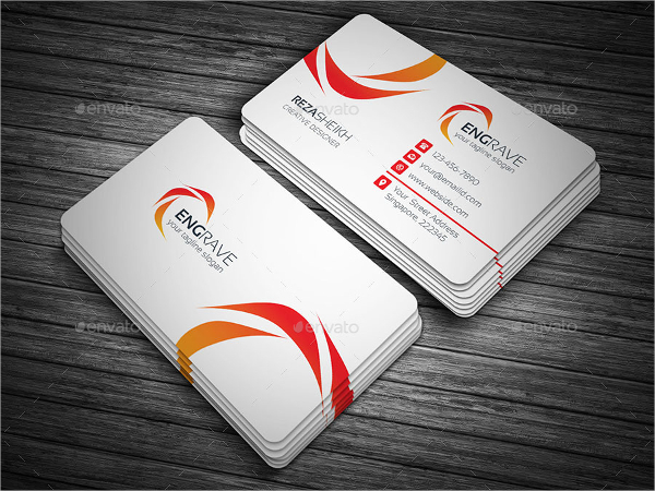 Engraved Corporate Business Card