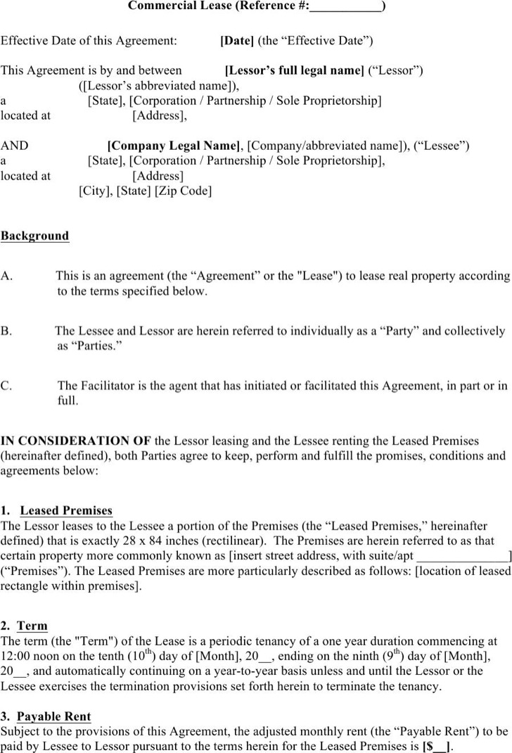 Enterprise Sub Lease Agreement Sample