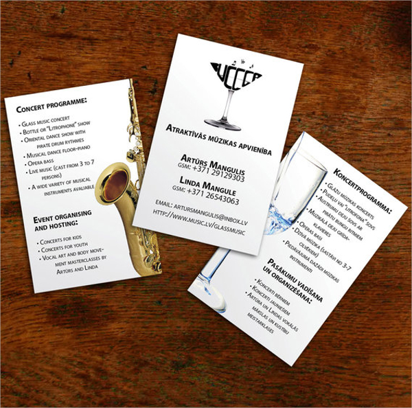 Entertainment Business Card Template