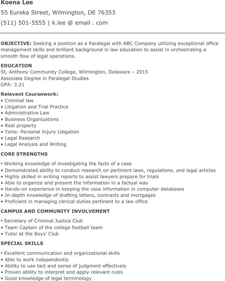 resume examples paralegal resume paralegal sample resume criminal justice resume immigration