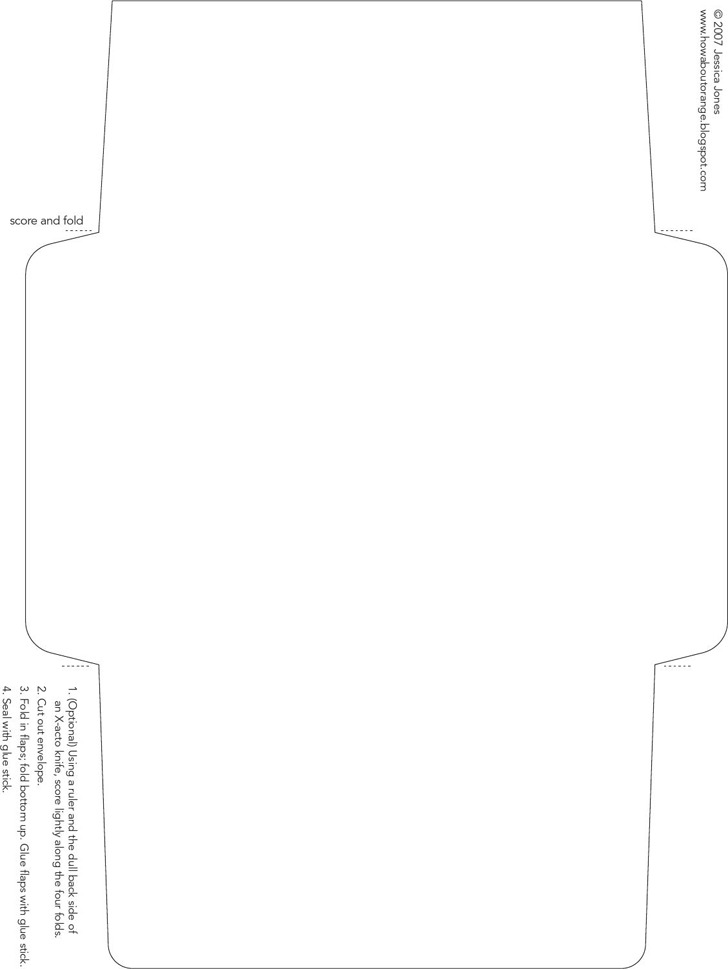Envelope Template 1