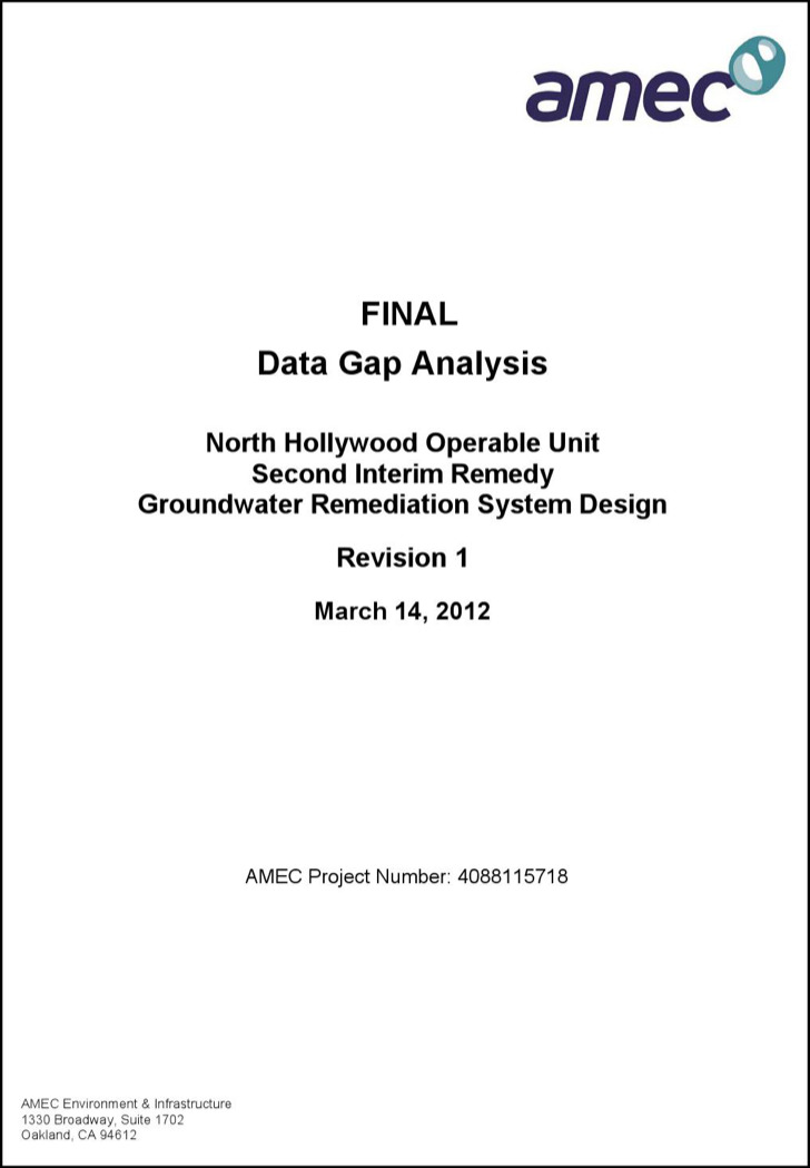 Environmental Data Gap Analysis