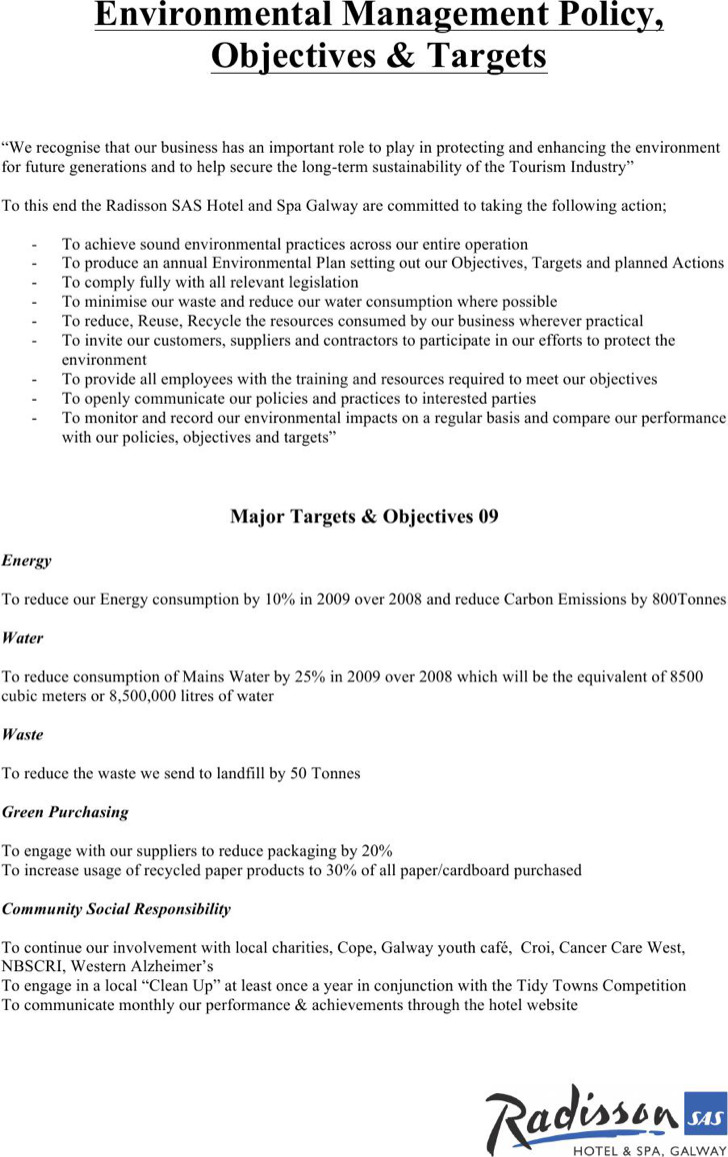 environmental policy templates download free premium templates