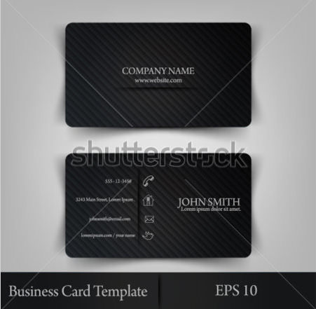 Eps10 Vector Illustration Abstract Elegant Business Card Template