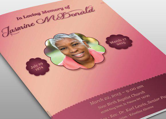 Essence Of Love Psd Funeral Program Template